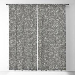 Physics Equations // Slate Grey Blackout Curtain
