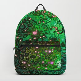 RAINBOW DOTTY OCEAN 3 Green Lime Ombre Space Galaxy Colorful Polka Dot Bubbles Abstract Painting Art Backpack