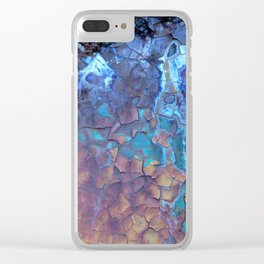 Waterfall. Rustic & crumby paint. Clear iPhone Case