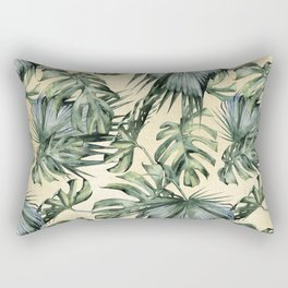 Palm Leaves Classic Linen Rectangular Pillow