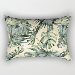 Palm Leaves Classic Linen Rectangular Pillow