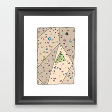 Climbing Wall Framed Art Print
