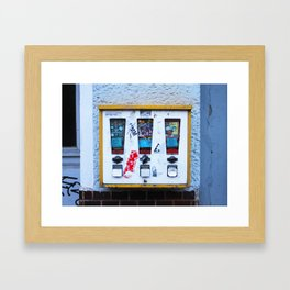 berlin gum machine Framed Art Print