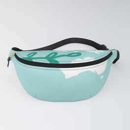 There is No Planet B. World map. White silhouettes of continents on a blue background. Ecology Fanny Pack
