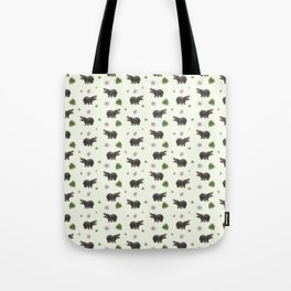 Hippos and Flowers Tote Bag