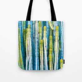 Colorful cactus painting Tote Bag