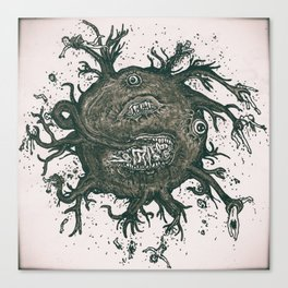 Flying Horror Canvas Print