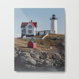 Nubble Point Lighthouse Metal Print