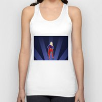 supergirl Tank Tops featuring Supergirl by livinginamovie