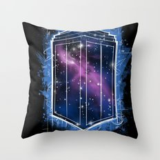 Time, Space, and Graffiti  Throw Pillow