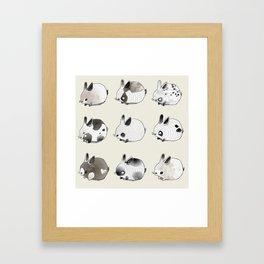 Little Bunnies Framed Art Print