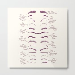 FunnyBrows Metal Print