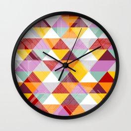 Triagles warm Wall Clock