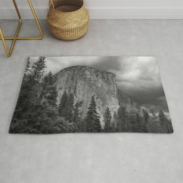 Yosemite National Park, El Capitan, Black and White Photography, Outdoors, Landscape, National Parks Rug