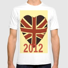 I Love Vintage 2012 White Mens Fitted Tee MEDIUM