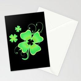 Pretty Irish Four Leaf Clover Stationery Cards