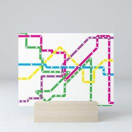 Chicago El Route 1 Mini Art Print