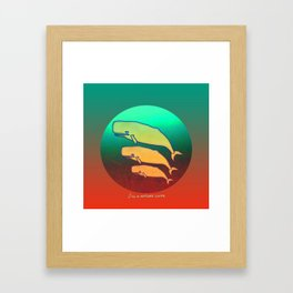 Nature Lover / Whales Framed Art Print