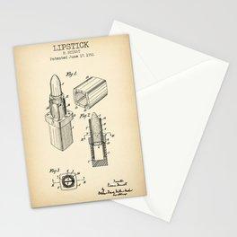 Lipstick vintage patent Stationery Cards