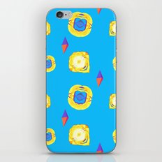 yellow substances in a blue matter iPhone Skin