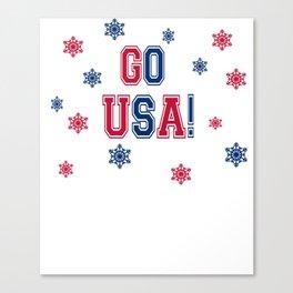 Winter Games - Go USA! Canvas Print