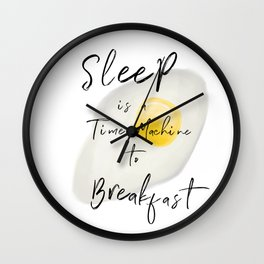 Breakfast / poster, art print, pictures, scandinavian, nursery, deco, saying, christmas, sarcasm, eg Wall Clock