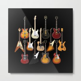 Too Many Guitars! Metal Print