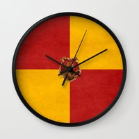 iphone 5 case Wall Clocks featuring Gryffindor iPhone 4 4s 5 5c, pillow, case by neutrone