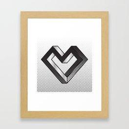 le coeur impossible (nº 5) Framed Art Print