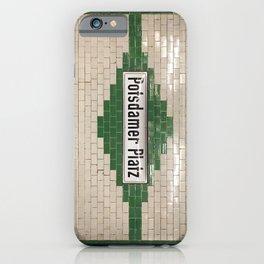 Berlin U-Bahn Memories - Potsdamer Platz iPhone Case