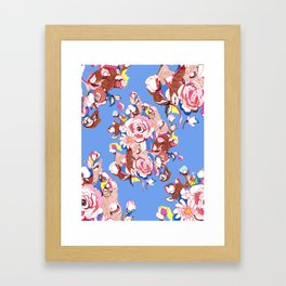Blue Textile Framed Art Print