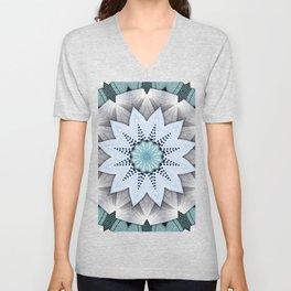 Turquoise Layers Mandala Unisex V-Neck