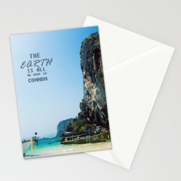 The Earth is all we have in Common Stationery Cards