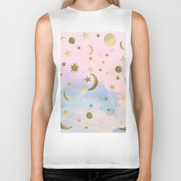 Pastel Starry Sky Moon Dream #1 #decor #art #society6 Biker Tank