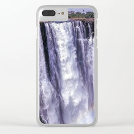 Rainbow over Victoria Falls Clear iPhone Case