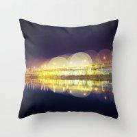 portland Throw Pillows featuring Portland by dibec
