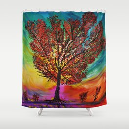 The Wow Tree Shower Curtain