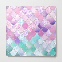 Mermaid Sweet Dreams, Pastel, Pink, Purple, Teal Metal Print