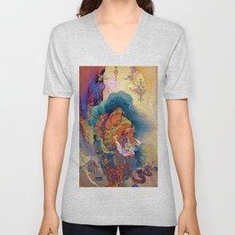 Kano Hogai - Top Quality Art - Niosokkizu Unisex V-Neck