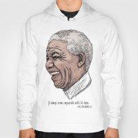 mandela Hoodies featuring Mandela by Fortissimo6