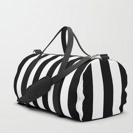 Large Black and White Cabana Stripe Duffle Bag