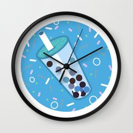 Bubbly Blue Wall Clock