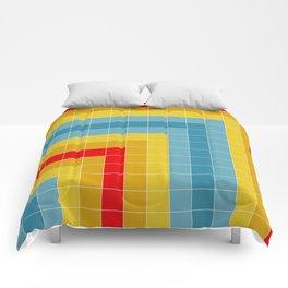Grid in Roller Rink Comforters