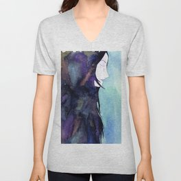 Galaxy woman Unisex V-Neck