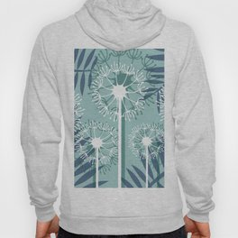 Dandelions palm Leaves blue light #leaves #society6 Hoody
