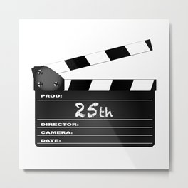 25th Year Clapperboard Metal Print