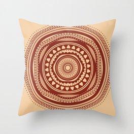 Maroon Pattern Throw Pillow