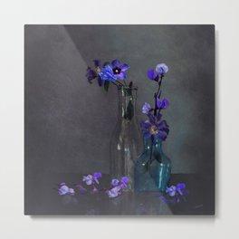Darkness Falls on Purple Blooms Metal Print