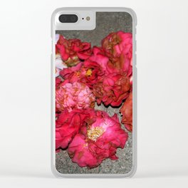 Camelia - Heart Clear iPhone Case