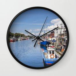 Baltic Coast Fishing Harbor Wall Clock